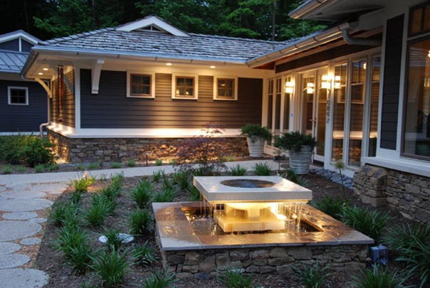 Outdoor lighting at vf landscaping services landscape lighting has other uses as well you can throw barbeques or other outdoor social gatherings longer than the sun is up they can be used as aloadofball Images